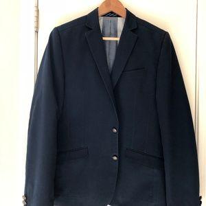 Ben Sherman Navy Blue Cotton Sport Coat